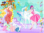 Click to Play Fairy and the Unicorn Dressup