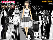 Click to Play Leena Black & White Dressup
