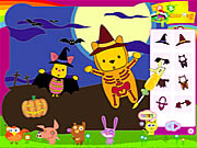 Click to Play Piglet and Pooh on Halloween