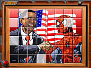 Click to Play Sort My Tiles Obama and Spiderman