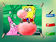 Click to Play Spongebob And Patrick Coloring Game