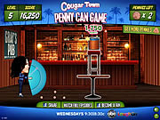 Click to Play Cougar Town: Penny Can Game