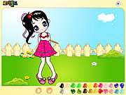Click to Play Garden Girl Painting