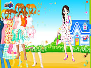 Click to Play Blue House Spring Dressup