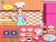 Click to Play Barbie Cooking - Valentine Blanc Mange